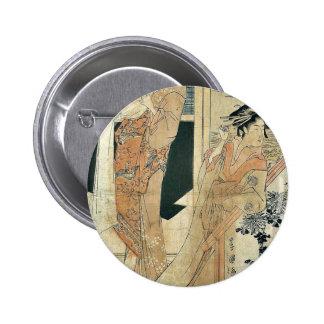 Temporary brothel at Sanya by Utagawa, Toyokuni 6 Cm Round Badge