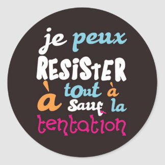 Temptation Classic Round Sticker