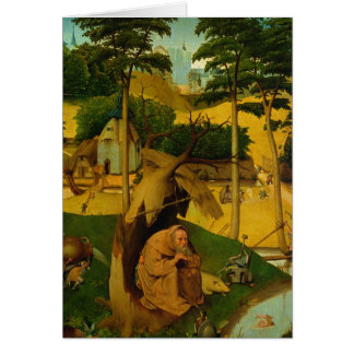 Temptation of St Anthony 1490 Greeting Card