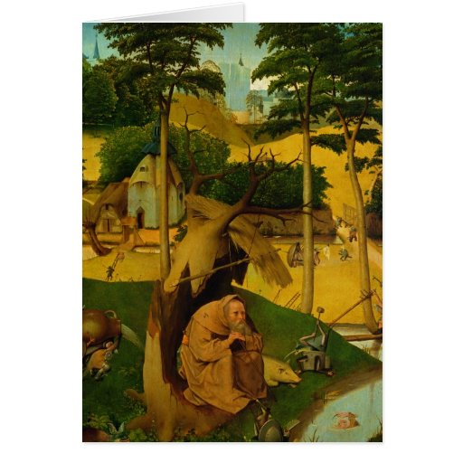Temptation of St. Anthony, 1490 Greeting Card
