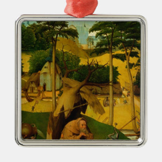 Temptation of St. Anthony, 1490 Silver-Colored Square Decoration