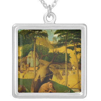 Temptation of St. Anthony, 1490 Silver Plated Necklace