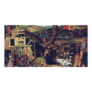 Temptation Of St Anthony By Huys Peeter Photo Card