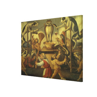 Temptation of the Owl Canvas Print