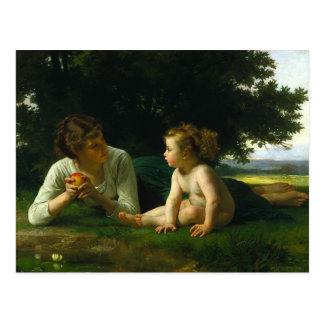 Temptation William-Adolphe Bouguereau Postcards