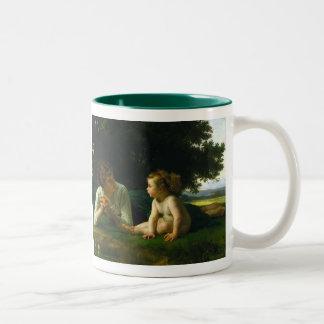Temptation, William-Adolphe Bouguereau Two-Tone Mug