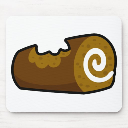 Tempting Chocolate Log Mouse Pad