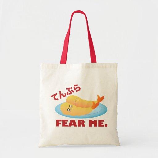 Tempura Fear Me Tote Bags