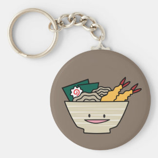 Tempura ramen bowl nori shrimp Japanese noodles Key Ring