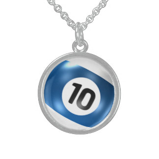 ten ball billiard pool game necklace