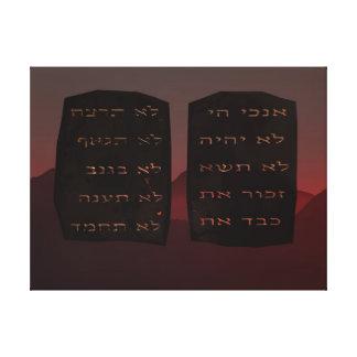 Ten Commandments Stretched Canvas Print
