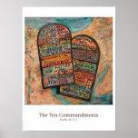 Ten Commandments Classroom Poster