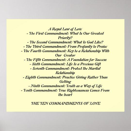 TEN COMMANDMENTS OF LOVE...poster Poster