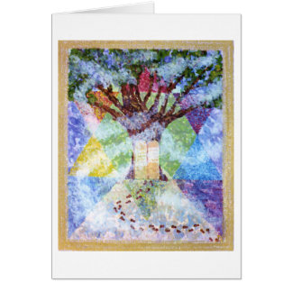 Ten Commandments Tree of Life Greeting Card