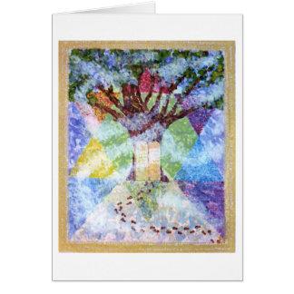 Ten Commandments Tree of Life Greeting Card