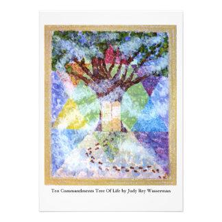 Ten Commandments Tree of Life Personalized Invitations