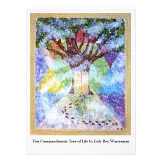 Ten Commandments Tree of Life - Judy Rey Wasserman Personalized Invitations