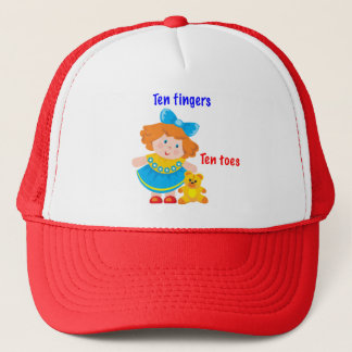 Ten fingers, ten toes trucker hat