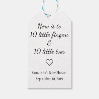 Ten Little Fingers Ten Little Toes Baby Shower Gift Tags