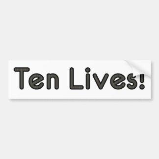 Ten Lives! Bumper Sticker