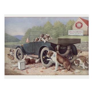 Ten Miles to a Garage - Postcard