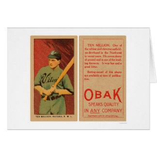 Ten Million Victoria Baseball 1911 Card