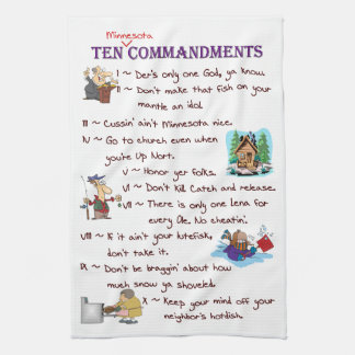 Ten Minnesota Commandments Towel
