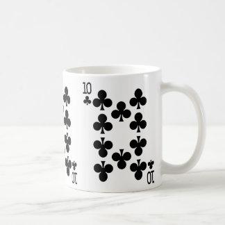 Ten of Clubs Playing Card Coffee Mug