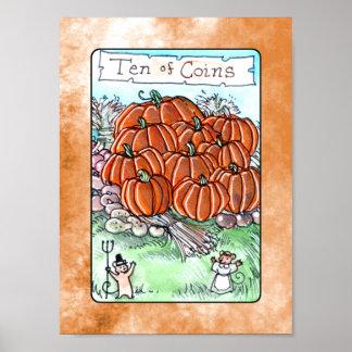 Ten of Coins Print