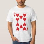 Ten of Hearts Playing Card T-shirt