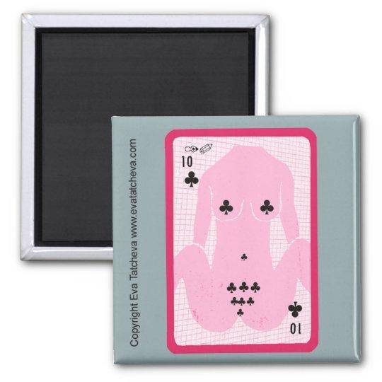 'Ten Of Spades' Designer Fridge Magnet