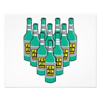 ten pin beer bowling humor 11.5 cm x 14 cm flyer
