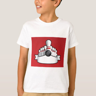 ten pin bolwing background design with scroll T-Shirt