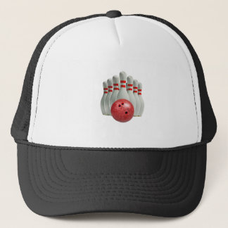 """""""Ten Pin Bowling 1"""" design gifts and products Trucker Hat"""