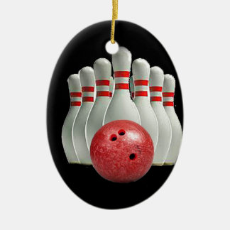 """Ten pin bowling 2"" design gifts and products Christmas Ornament"