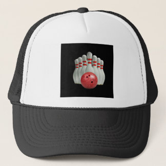 """""""Ten pin bowling 2"""" design gifts and products Trucker Hat"""