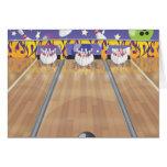 Ten Pin Bowling Alley Greeting Card