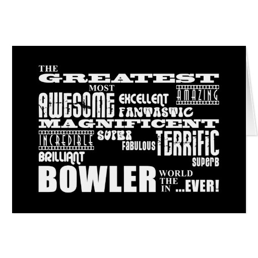 Ten Pin Bowling Bowlers Greatest Bowler World Ever Card