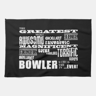 Ten Pin Bowling Bowlers Greatest Bowler World Ever Kitchen Towels