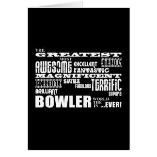 Ten Pin Bowling Bowlers Greatest Bowler World Ever Note Card