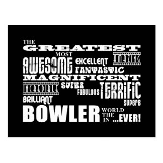 Ten Pin Bowling Bowlers Greatest Bowler World Ever Postcard