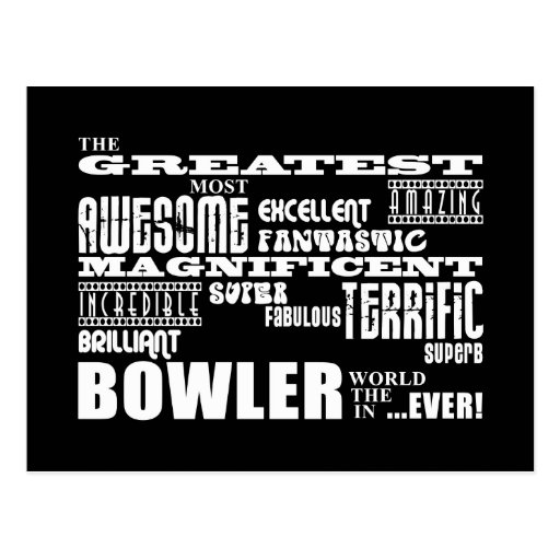 Ten Pin Bowling Bowlers Greatest Bowler World Ever Postcards