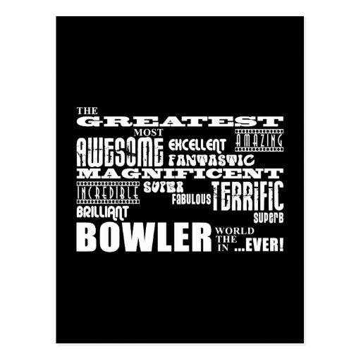 Ten Pin Bowling Bowlers Greatest Bowler World Ever Post Card