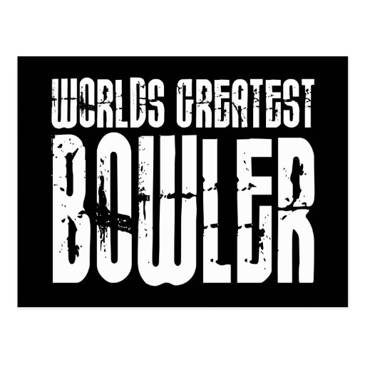 Ten Pin Bowling & Bowlers : Worlds Greatest Bowler Postcards