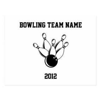 Ten Pin Bowling, Bowling Team Name, 2012 Postcard
