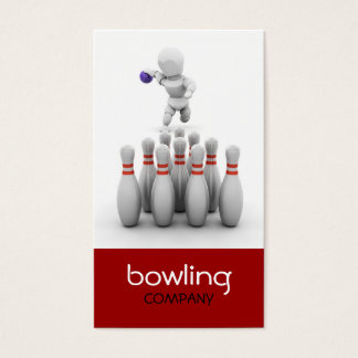 Ten Pin Bowling Business Card