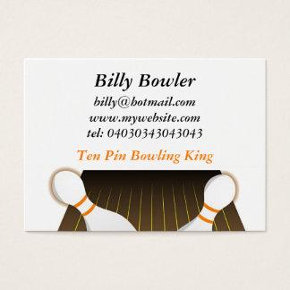 Ten Pin Bowling Business Card
