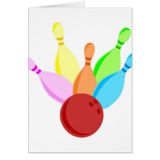 Ten Pin Bowling Card