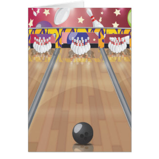 Ten-pin bowling card