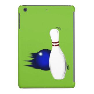 Ten Pin Bowling Pin and Ball Sport Design iPad Mini Cases